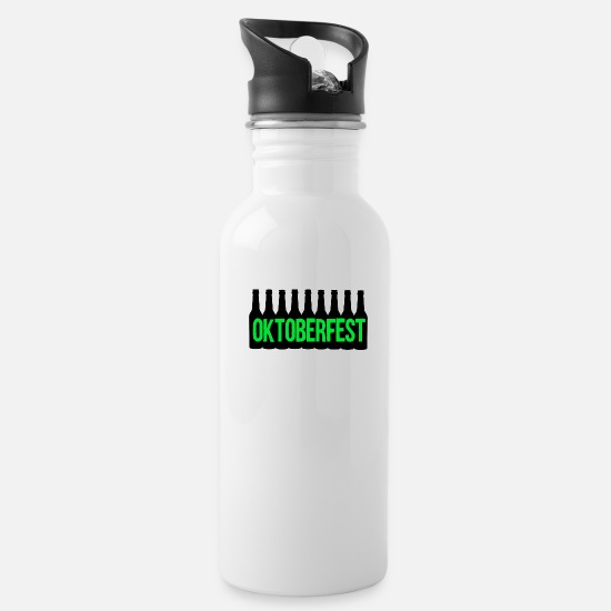 Tent Mugs & Drinkware - Oktoberfest - Water Bottle white