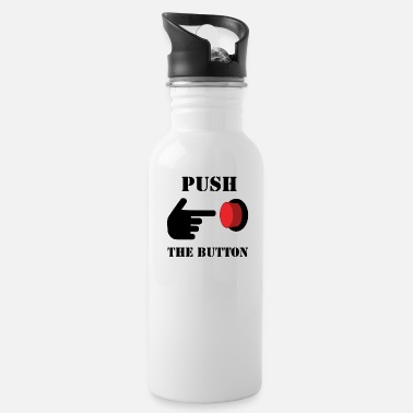 Push The PUSH THE RED BUTTON (colored) - Trinkflasche