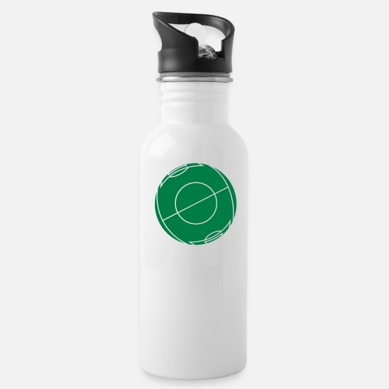 Ball Mugs & Drinkware - Football field as a ball - Water Bottle white