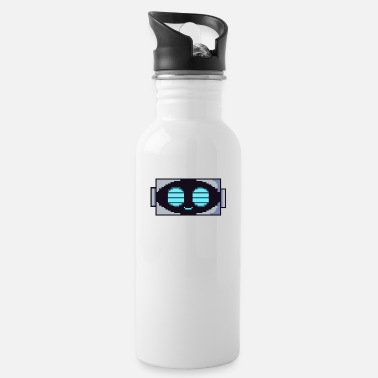 Gamer Retro Robot / Android Pixelart - Water Bottle