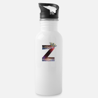 Crown Letters design colorful Z, symbol of diversity - Water Bottle