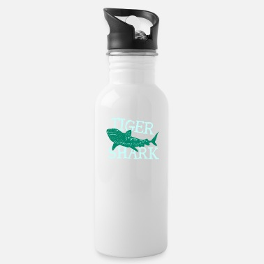 Birthday Present Fish Tiger Shark Danger Diver Gift - Water Bottle