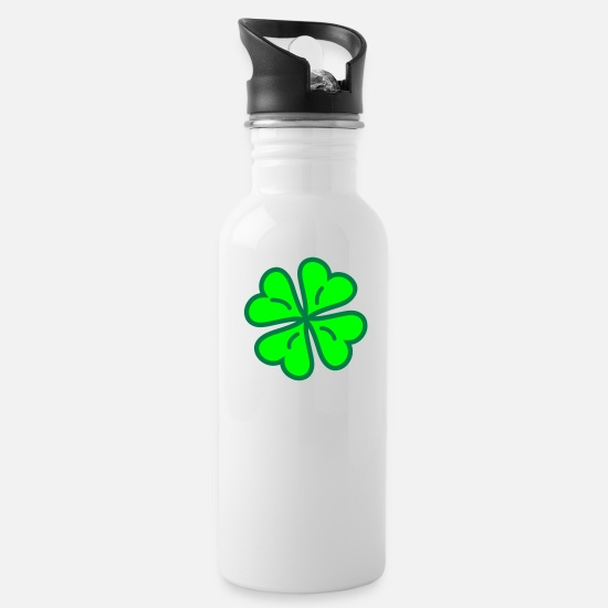 Heart Mugs & Drinkware - Lucky Clover - Water Bottle white