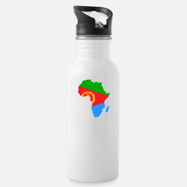 african_flag_map_of_eritrea - Water Bottle