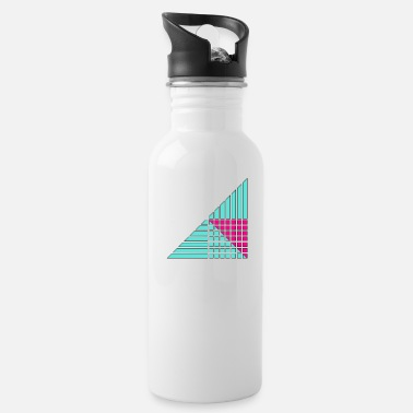 Decorated lines and squares decor decor - Water Bottle
