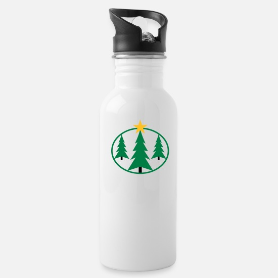 Rayonnant Mugs et récipients - chistmas_trees - Gourde blanc