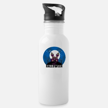 Haunt Halloween haunted house haunted house horror horror - Water Bottle