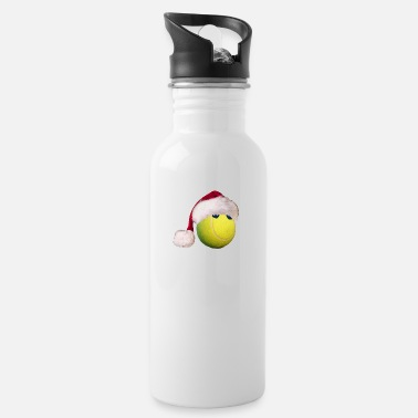 Tennis ball with Christmas cap gift Merry X-Mas - Water Bottle