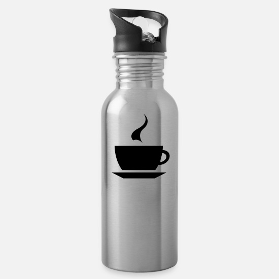 Coffeeshop Mugs & Drinkware - coffee cup tea cafe - Water Bottle silver