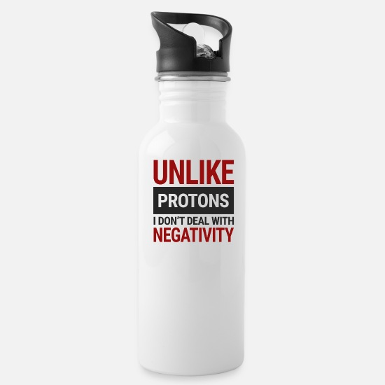 Chemistry Mugs & Drinkware - Chemists / Chemistry: Unlike Protons. I don't deal - Water Bottle white