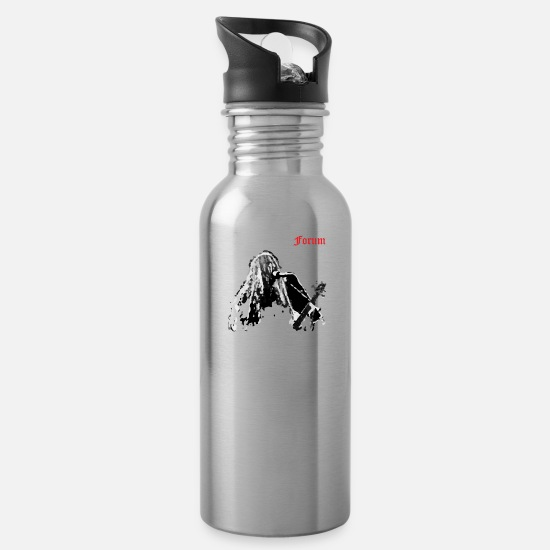 Kvlt Mugs & Drinkware - ZM back - Water Bottle silver