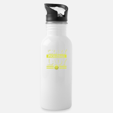 Badminton Crazy Pickleball Lady For Pickleball Player - Water Bottle