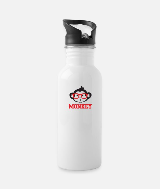 Small Mugs & Drinkware - Monkey T-Shirt Print for him or her - Water Bottle white
