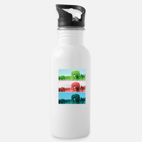 Greek Mugs & Drinkware - San Francisco - Water Bottle white
