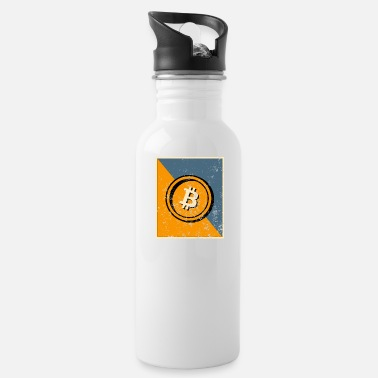Bad Bitcoin symbol with grunge effect - Water Bottle