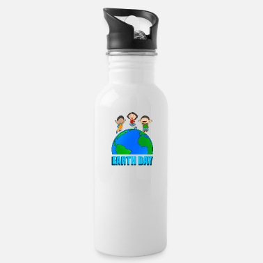 Carbon Dioxide earth day carbon dioxide eco co2 globe green environment - Water Bottle