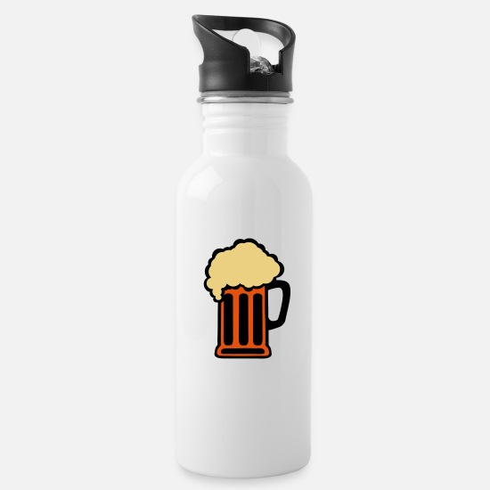 Alcohol Mugs & Drinkware - beer alcohol alcohol glass 10 - Water Bottle white