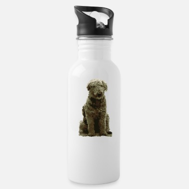 Search Dog Dog dog lover ruffled dog poodle caniche - Water Bottle