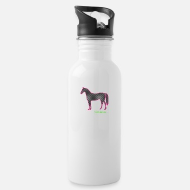 Serce i love horses ... graphically - Water Bottle