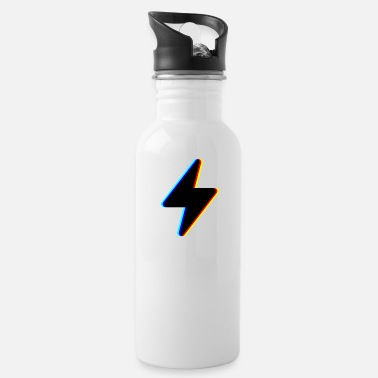 Symbol &amp lightning stream symbol logo - Water Bottle