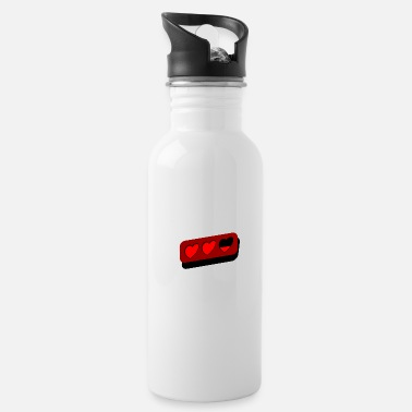 Fps two half heart gamer life announcement - Water Bottle
