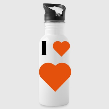 I Heart I Heart heart - Water Bottle
