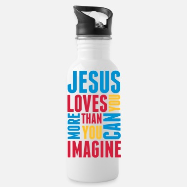 Catholic jesus_loves_you_more_3 - Water Bottle