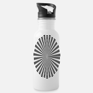 polar black dots - Trinkflasche