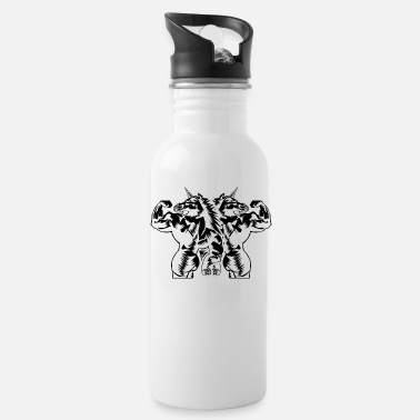 Workout Unicorn workout gear gym fitness - Water Bottle