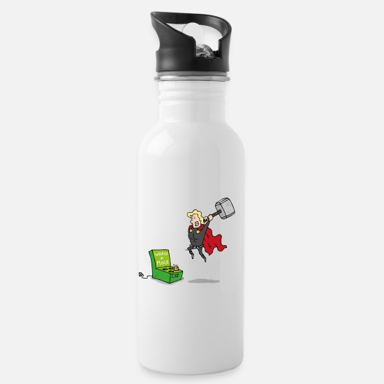 Thor Mugs & Drinkware - Thor God of Whack a Mole - Water Bottle white
