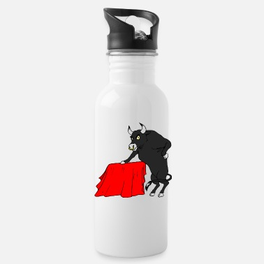 Taurus - Angry - Water Bottle