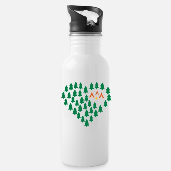 Outdoor Mugs & Drinkware - camping - Water Bottle white
