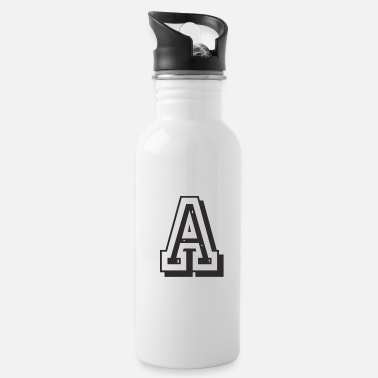 Letter A in collegiate University Uni USA - Water Bottle