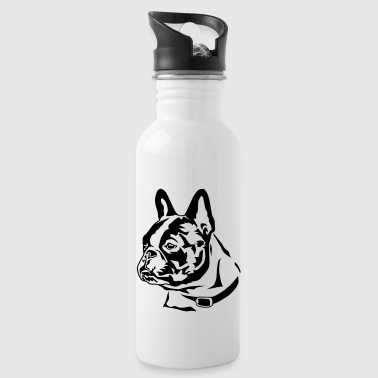 french_bully_head_01 - Trinkflasche