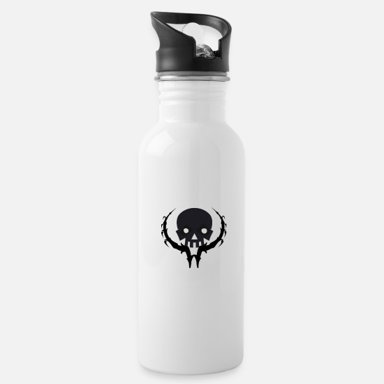 Idea Mugs & Drinkware - Skull - Water Bottle white