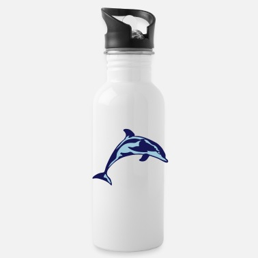Marine Animal dolphin dolphin marine animal 306 - Water Bottle