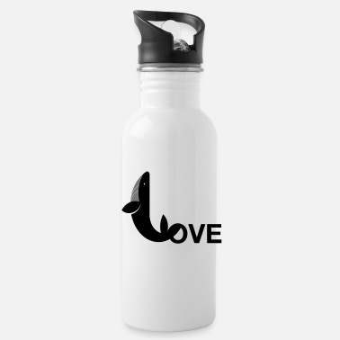Whale love - Water Bottle