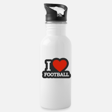 Quarterback I love football I love rugby american football - Water Bottle