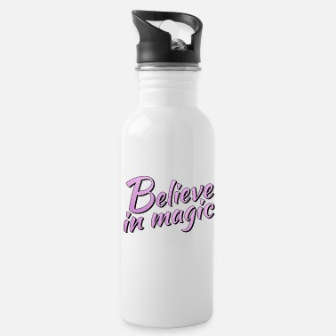 Lilac Believe in magic logo in lilac - Water Bottle