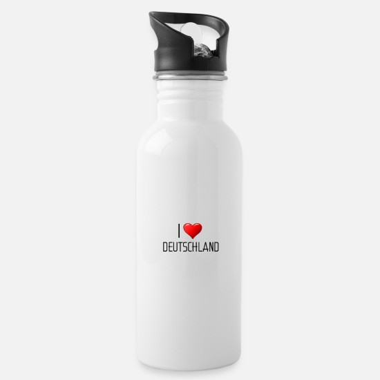 Love Mugs & Drinkware - I love Germany - Water Bottle white