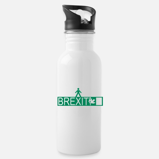 Britain Mugs & Drinkware - BREXIT 001 - Water Bottle white