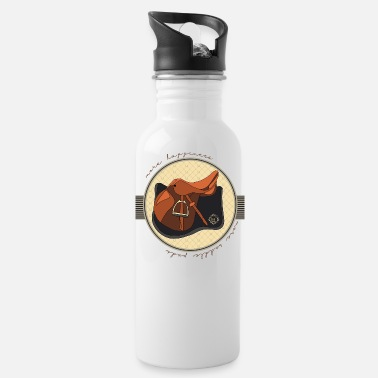 Saddle horsetshirt saddle happy luxury saddle saddle pad - Water Bottle