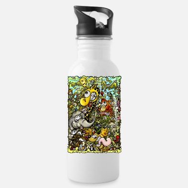 Colorful wildlife - Water Bottle