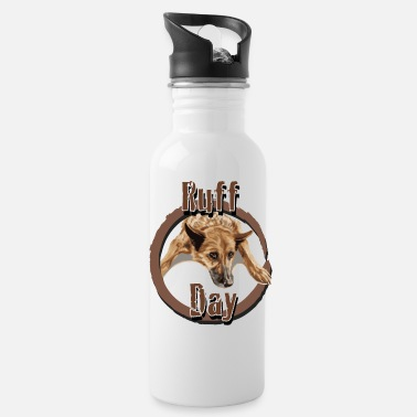 Ruff Day - German Shepherd - Gift Idea for Tired - Water Bottle
