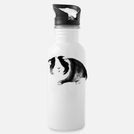Guinea Pig Mugs & Drinkware - guinea pig - Water Bottle white