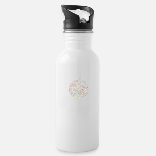 Hippie Mugs & Drinkware - Hippie Flower Power Ball - Water Bottle white