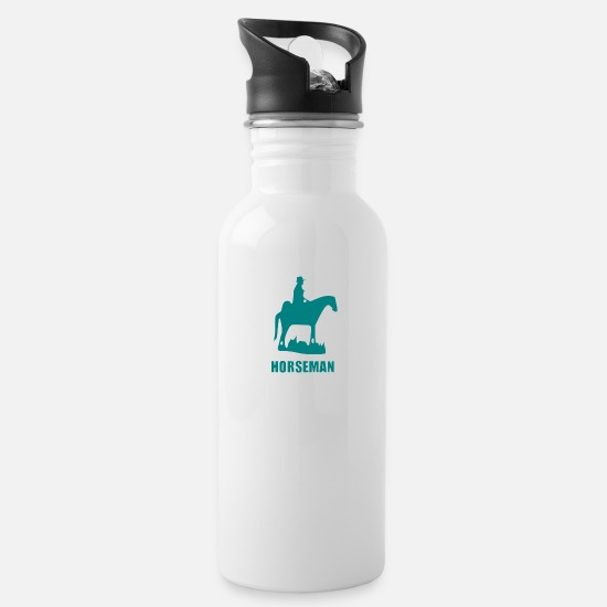 Navajo Mugs & Drinkware - horseman - Water Bottle white