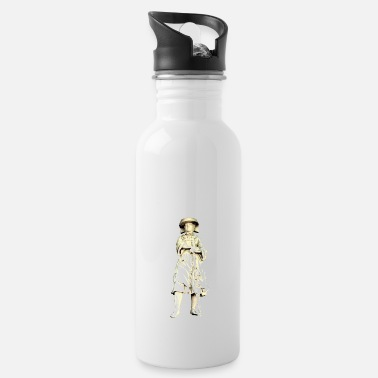 Heritage Hamburg market woman - Water Bottle