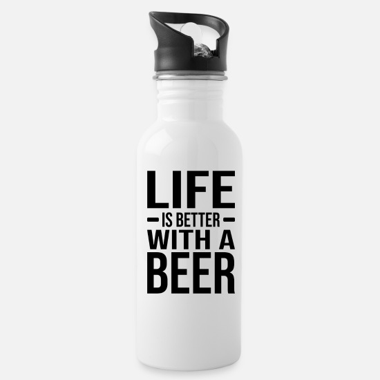 Alcohol Mugs & Drinkware - Alcohol Alcoholic Party Funny saying - Water Bottle white