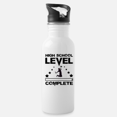 High School Graduate Gamer High School Graduate Graduation - Water Bottle